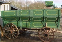 #101-Horse Drawn Grain Wagon  c/w buckboard