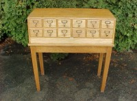 #11- 12 Drawer Libraco Oak File
