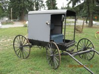 #15- Horse drawn Amish open front  Buggy