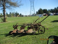 #21- Antique 3 Bottom Plow