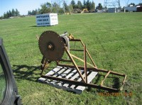 #22- Old Farm Yard Wood Bucksaw