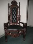 #42 – Mahogany Lions Head Kings Chair