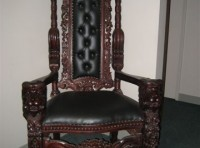 #42 – Mahogany Lions Head Kings Chair