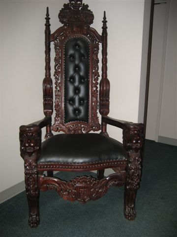42 Mahogany Lions Head Kings Chair Uniquetiques