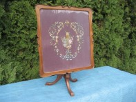 #57 –Antique 1890's  Victorian Folding Tapestry Table