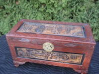 #59 – Collectable Wooden carved trunk / box